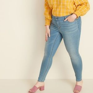 Old Navy Mid-Rise Plus-Size Super Skinny 22 Plus